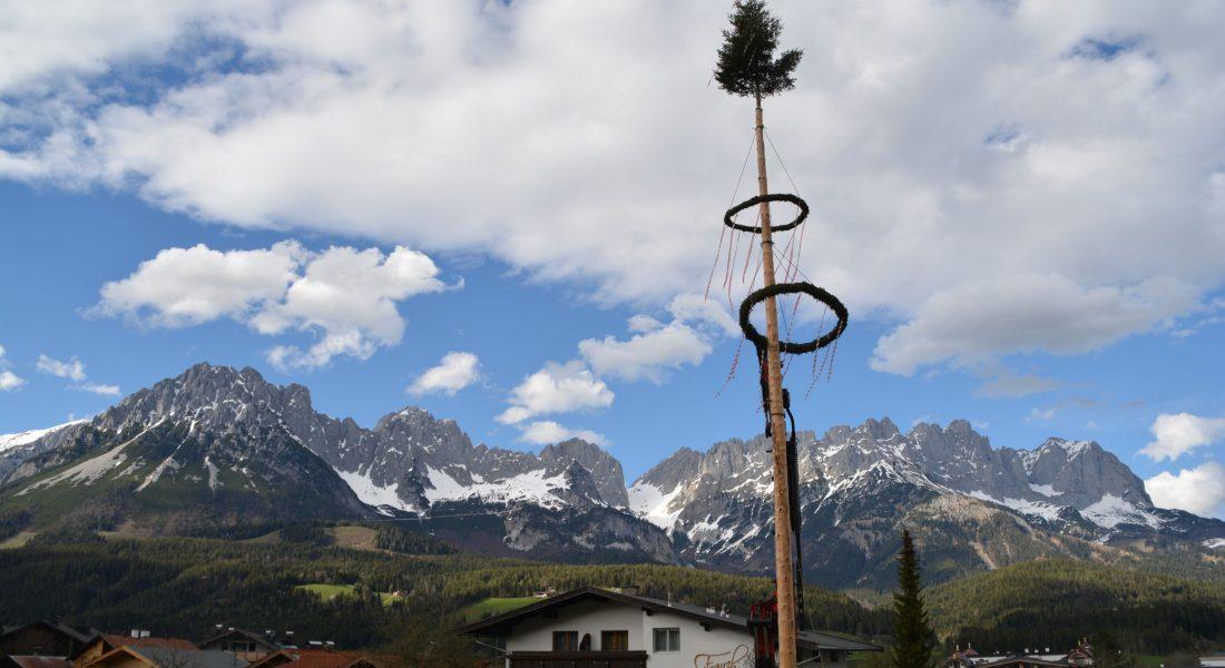 Maibaum 2021 von der Landjugend Ellmau