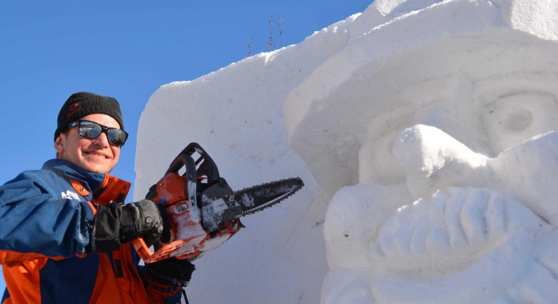 Schneeskulptur Koasamandl